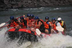 Rafting with shockwave on Zambezi