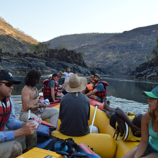 Rowing the raft on Zambezi  Multiday Raf
