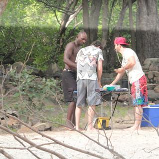 Lunch on a multiday Tour on the zambezi