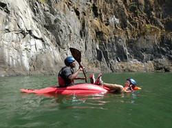 Kayak rescue demo