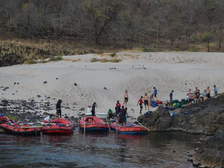 2015 Liquid Descent Rafting Team from Idaho Springs USA & Wanderlust Adventure rafting the Zambe