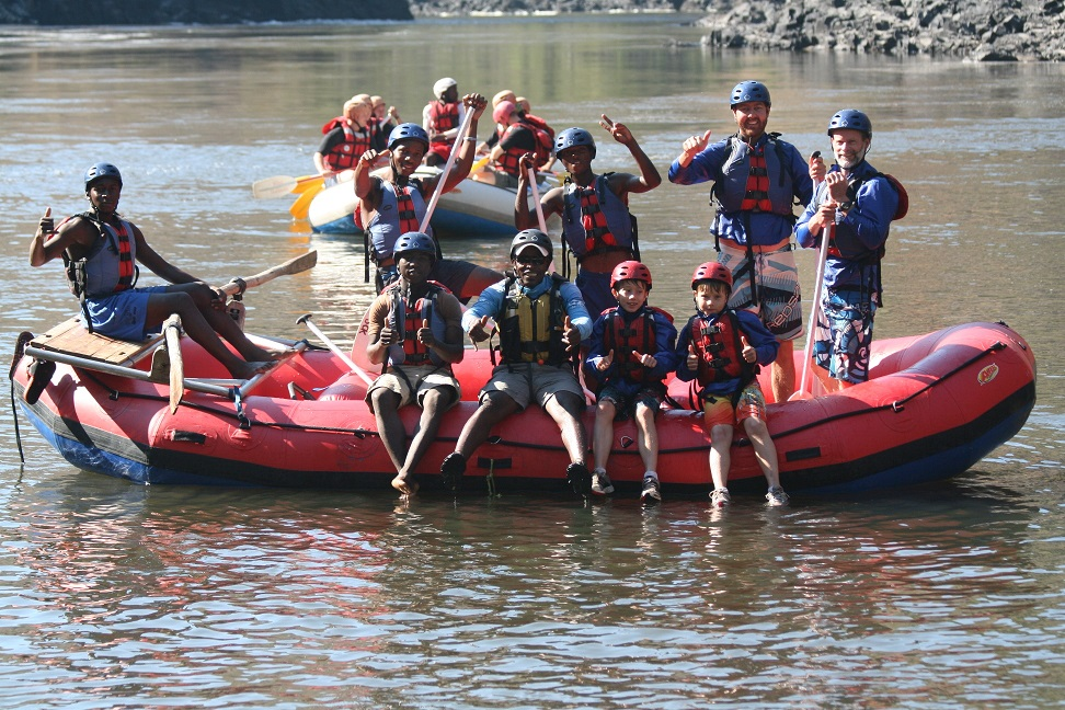 KIDS RAFTING ZAMBEZI RIVER 7