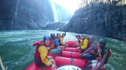 Victoria Falls scenery during whitewater