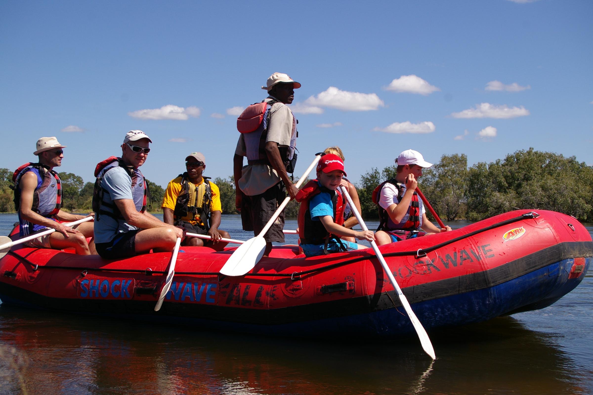 Family Raft Float Victoria Falls