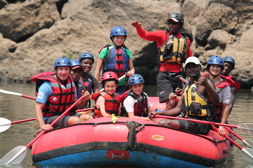 Kids Rafting the Zambezi