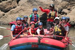 Kids Rafting the Zambezi