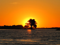 Sunset on the raft float