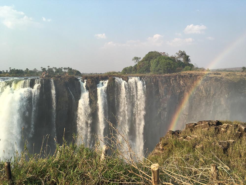 Livingstone Island viewing from Zimbabwe side