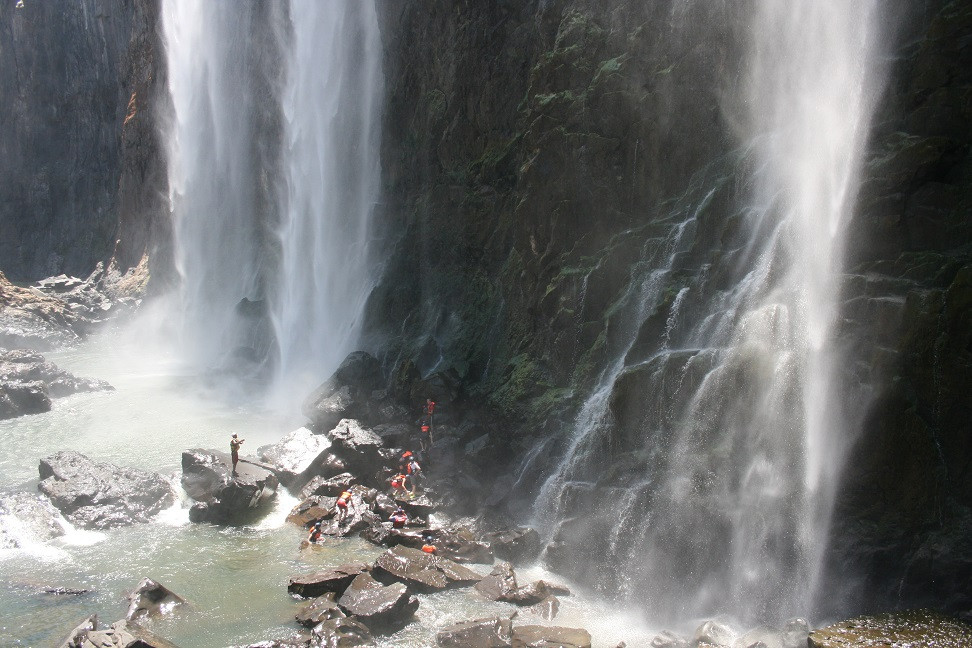 SWIM BELOW THE VICTORIA FALLS BEFORE OUR 5 DAYS RAFTING WITH SHOCKWAVE ADVENTURES IN VICTORIA FALLS