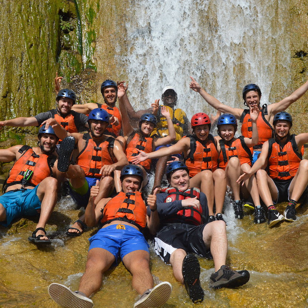 Raft & walk to the falls 19 March 2017 w