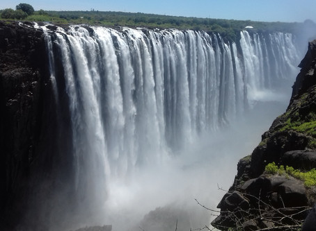 Update on Whitewater Rafting levels & View of the Vic Falls from bottom videos