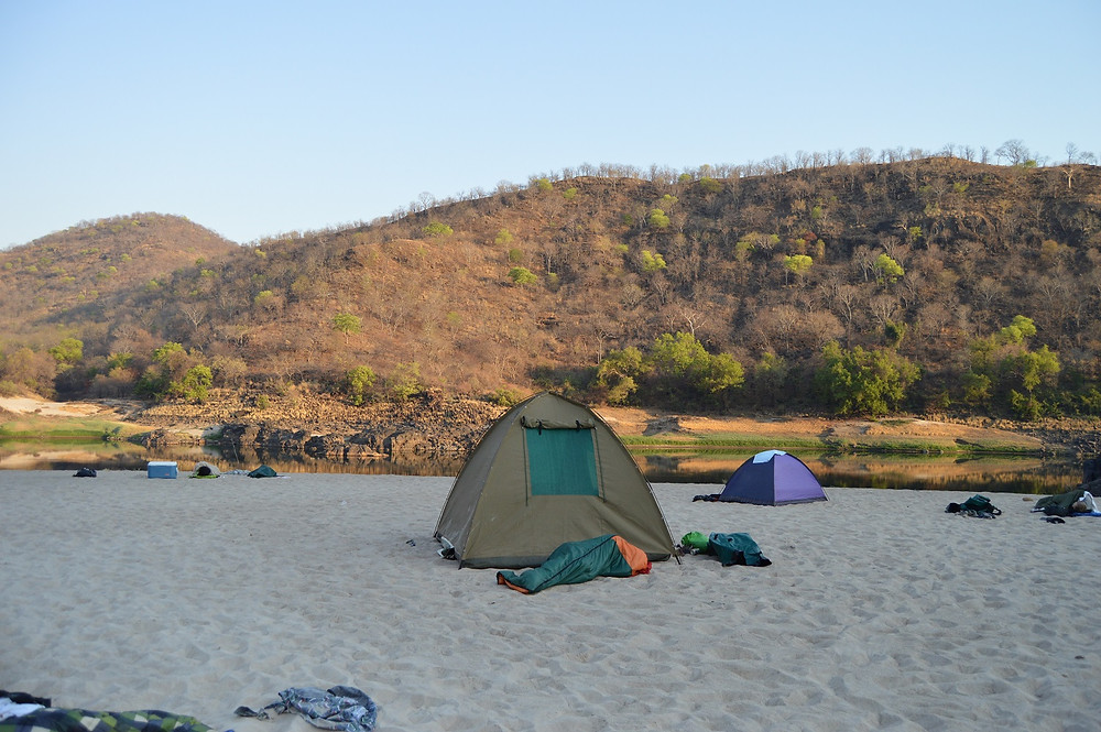NICE SAND ON THE ZAMBEZI RIVER BANK SHOCKWAVE ADVENTURES VICTORIA FALLS