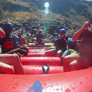 Beautiful scenery seen as we rafting the