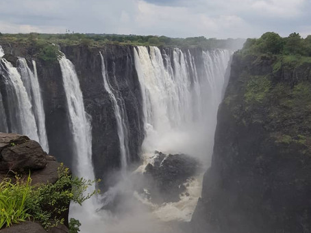 A day in the might Victoria Falls....Amazing curtain of falling water..the views as at 13 Feb 2020..