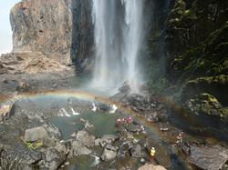 Rainbow and falls