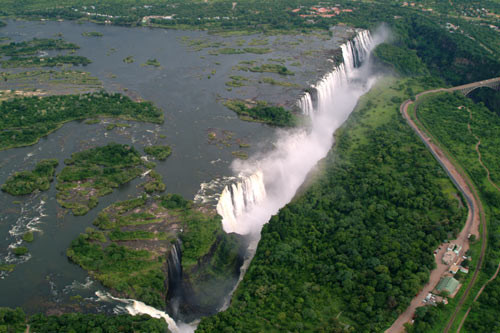 WHAT ABOUT VIEW OF THE VICTORIA FALLS FROM ABOVE