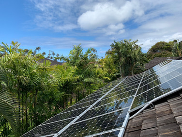 Solar Panels Wood Shake Roof Port Loch