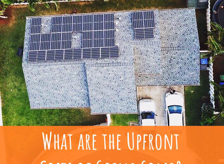 What are the upfront costs of going solar?