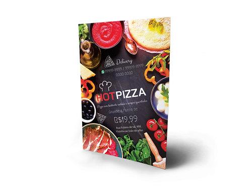 Modelo Panfleto Pronto Pizzaria - 1 Lado - Ingredientes Deliciosos