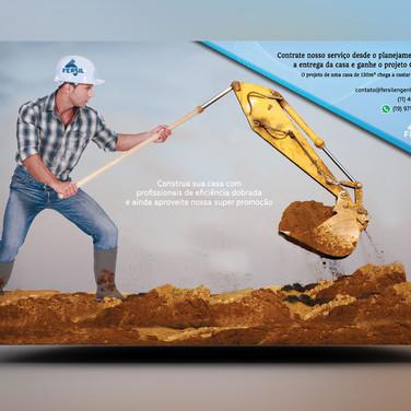 Panfleto criativo reforma residencial construção