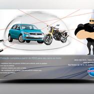Panfleto criativo Seguro / Proteção Carro e Moto
