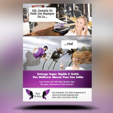 Panfleto criativo venda e entrega de cosméticos