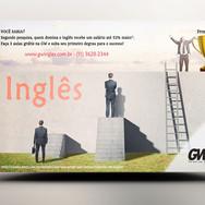 Panfleto criativo Curso de Inglês para Adulto