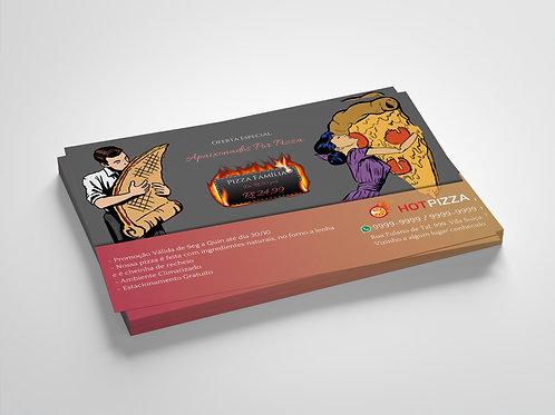 Modelo Panfleto Pronto Pizzaria - 1 Lado - Apaixonados por Pizza