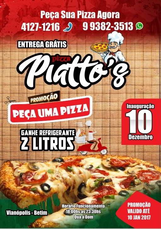panfleto de pizzaria com textos de venda em toda parte