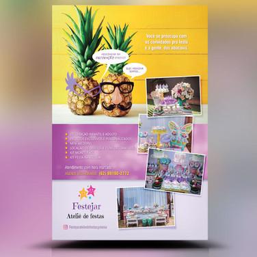 Panfleto Criativo Atêlie / Organização Festa