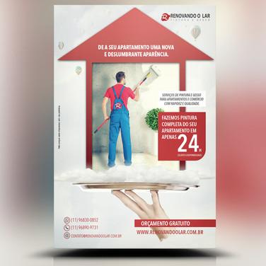 Panfleto criativo Reforma Pintura Residencial Apartamento