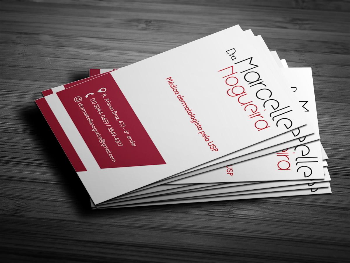Cartão de visita Profissional de Médica Dermatologista