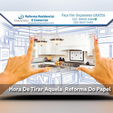 Panfleto criativo reforma residencial apartamento construção