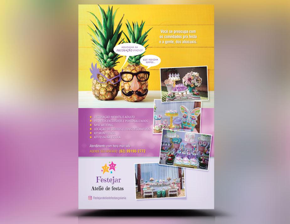 Panfleto Criativo Festa Infantil