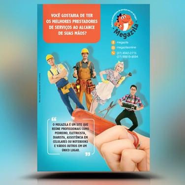 Panfleto criativo prestação de serviços diarita, pedreiro, reforma, encanador, conserto computador