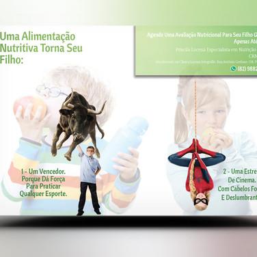 Panfleto Criativo Nutricionista Infantil