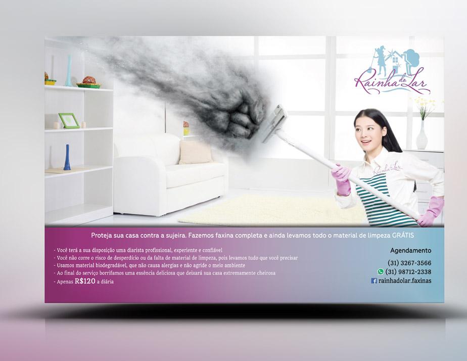 Panfleto criativo limpeza doméstica