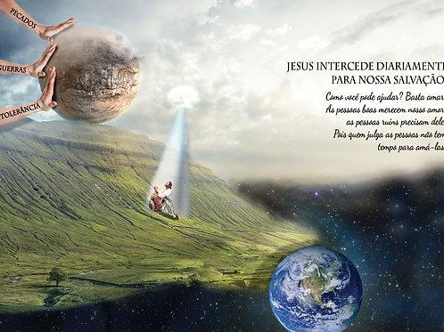 Frente Panfleto Evangélico Religioso Salvação
