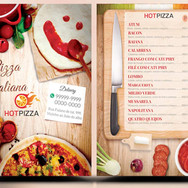 Panfleto criativo Pizzaria