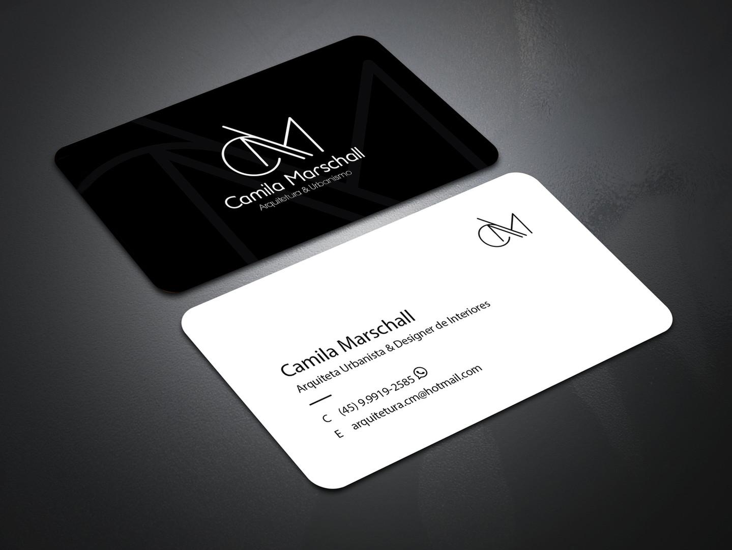 Cartão de visita Profissional de Arquiteta