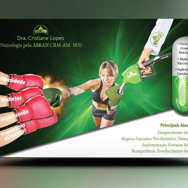 Panfleto criativo Nutróloga / Nutricionista / Nutrição