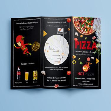 Panfleto / Folder e Cardápio Criativo Pizzaria