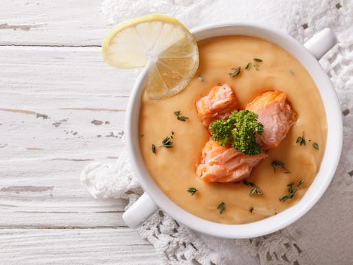 Крем-суп из лосося как у шефа