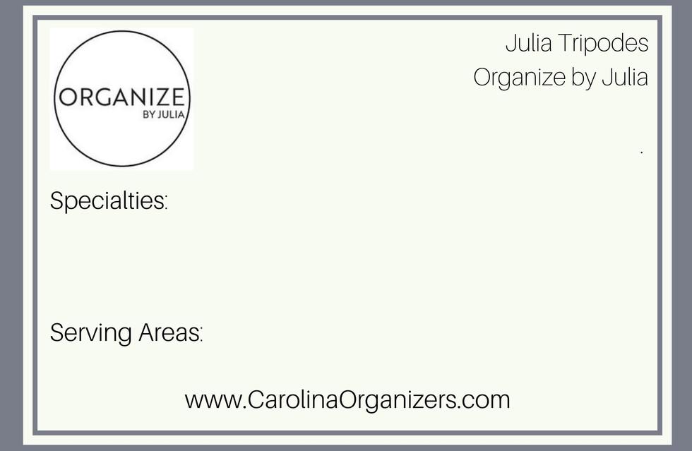 Organize by Julia