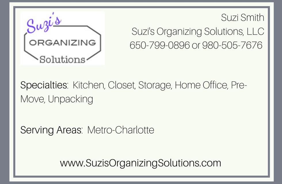 Suzi's Organizing Solutions