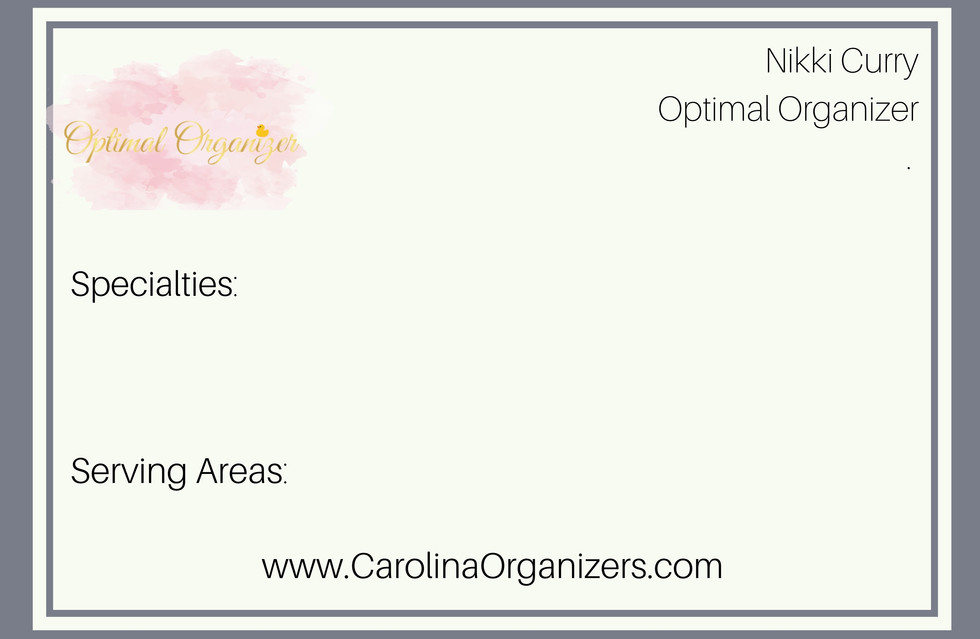 Optimal Organizer