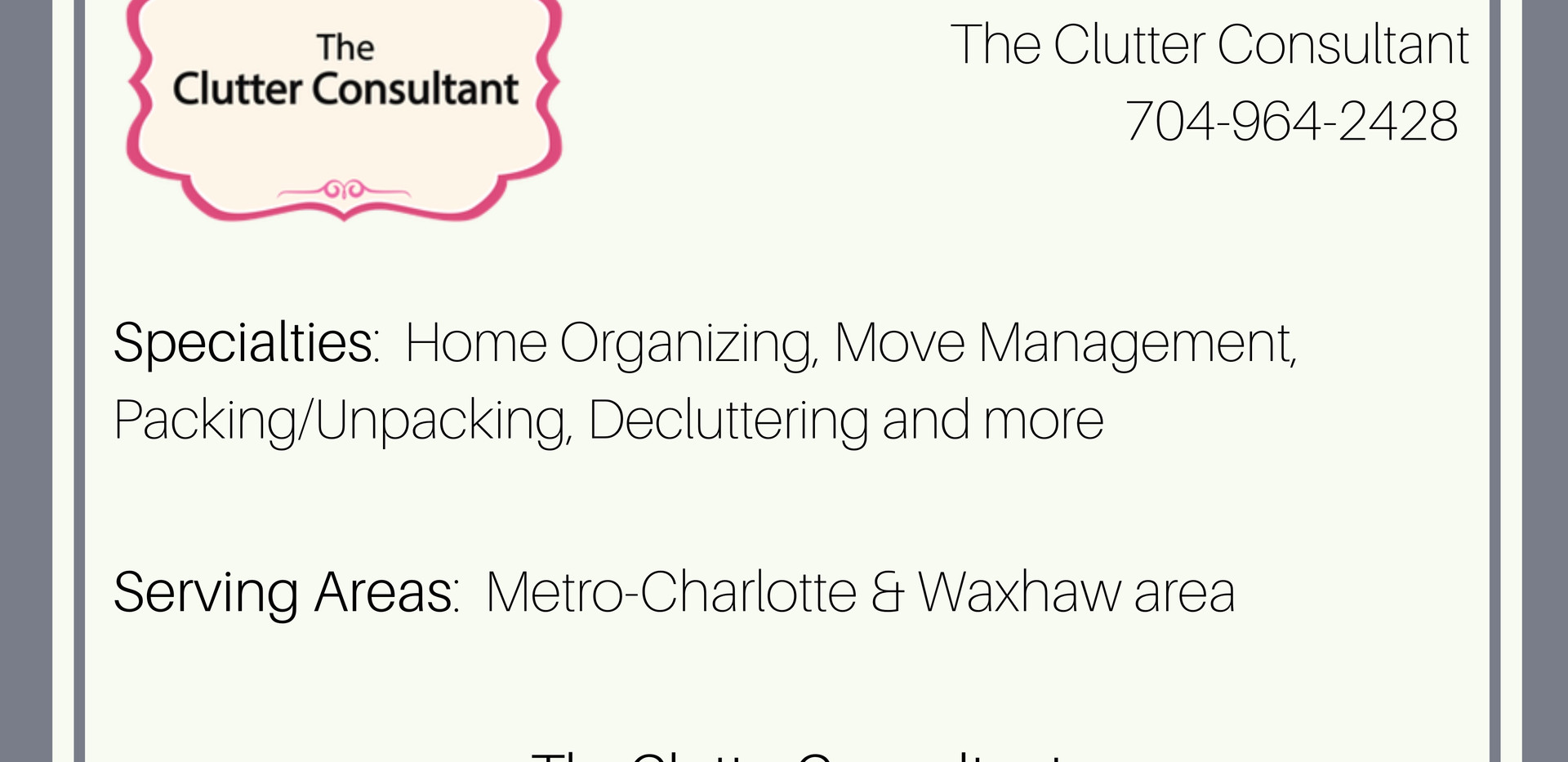 The Clutter Consultant