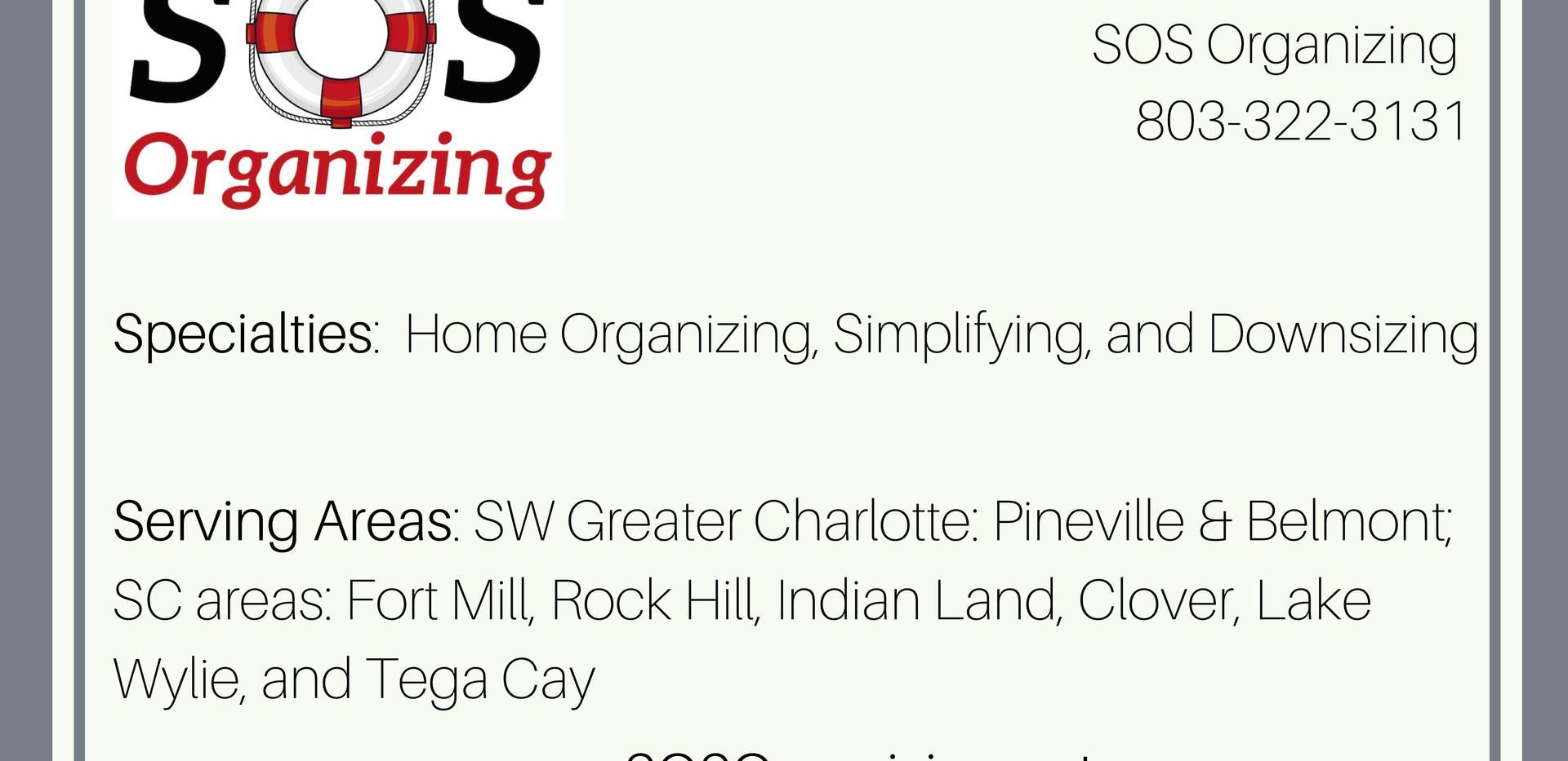 SOS Organizing