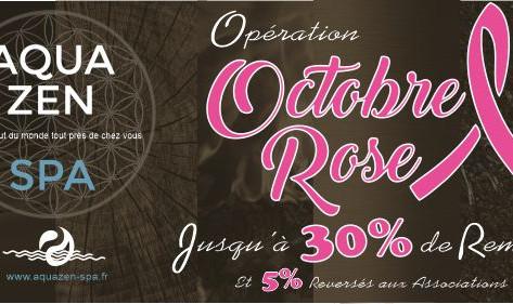 Aquazen-Spa accompagne Octobre Rose