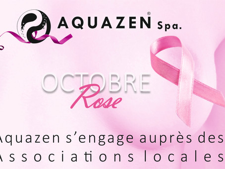 Octobre Rose : Aquazen-Spa soutient les associations locales